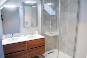 Le Patio de Loiseau Salle bain le grand Loft Le Patio de loiseau Apparthotel privé